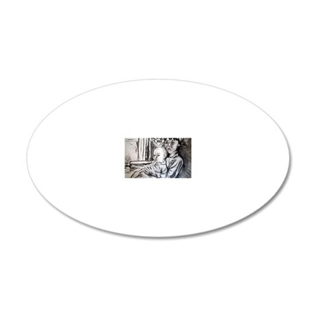 josef and dana 2 20x12 Oval Wall Decal