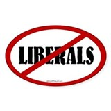 No Liberals Oval Bumper Stickers