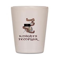 knights templar non nobis Shot Glass