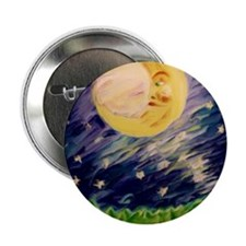 "Night Moon 2.25"" Button"