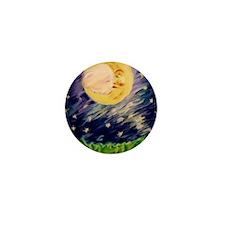 Night Moon Mini Button