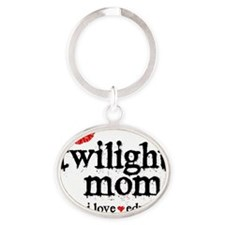 Twilight Mom S6 Oval Keychain