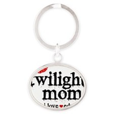 Twilight Mom S1 Oval Keychain
