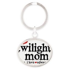 Twilight Mom Cer Oval Keychain