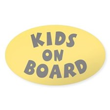 Kids On Board Yellow Oval Decal