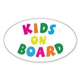 Kids on Board Oval Stickers