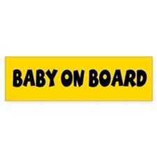 Baby On Board Yellow Bumper Stickers