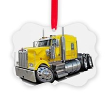 Kenworth w900 Yellow Truck Ornament