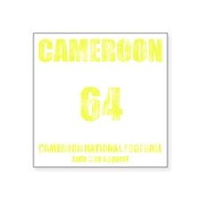 "Cameroon football vintage Square Sticker 3"" x 3"""