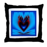 Cold Flaming Heart Valentine Throw Pillow