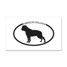 American-Bulldog Rectangle Car Magnet