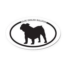 Olde-English-Bulldog Oval Car Magnet