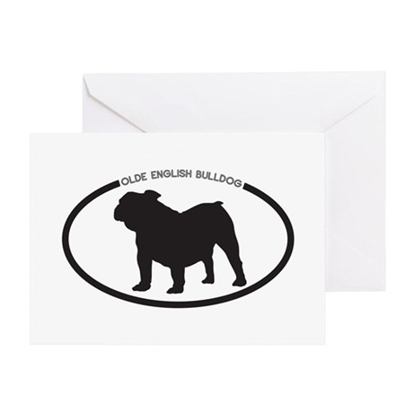Olde-English-Bulldog Greeting Card
