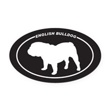 English-Bulldog Oval Car Magnet
