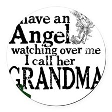 5-grandma angel Round Car Magnet