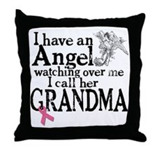 2-grandma angel Throw Pillow