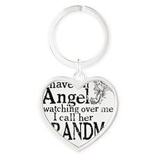 grandma angel Heart Keychain