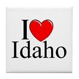 """I Love Idaho"" Tile Coaster"