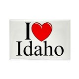 """I Love Idaho"" Rectangle Magnet"