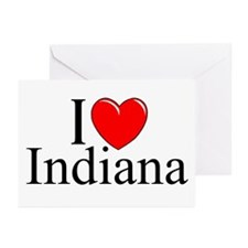 """I Love Indiana"" Greeting Cards (Pk of 10)"