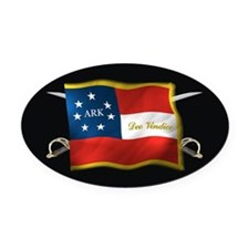 ARK first national (Oval)blk Oval Car Magnet