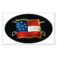 GA first national (Oval)blk Decal