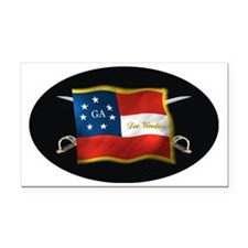 GA first national (Oval)blk Rectangle Car Magnet