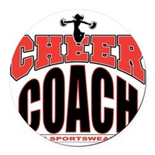 CHEER-COACH Round Car Magnet
