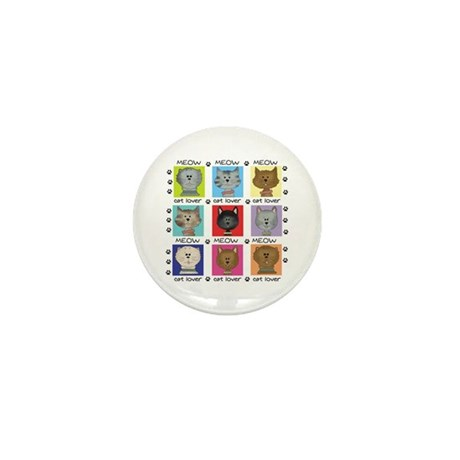 Meow Cat Lover Mini Button (10 pack)