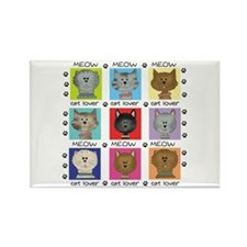 Meow Cat Lover Rectangle Magnet