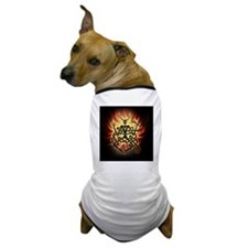 2-cernunnos flames square Dog T-Shirt