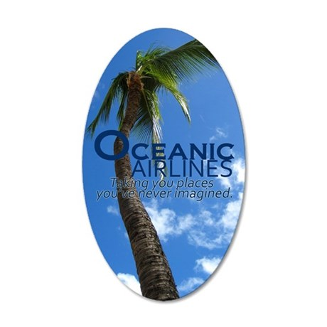 oceanicmagnet 35x21 Oval Wall Decal
