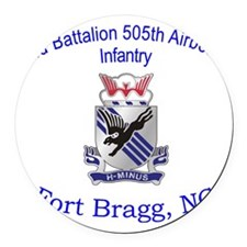 2nd Bn 505th ABN Round Car Magnet