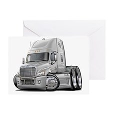 Freightliner Cascadia White Truck Greeting Card