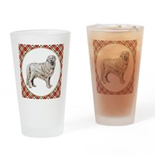 RDORN-great-pyrenees-christmas Drinking Glass