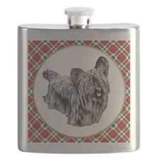 RDORN-skye-terrier-christmas Flask