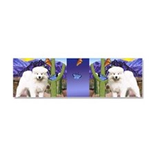 3-pupcup copy Car Magnet 10 x 3