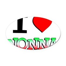 I Love Nonna Baby Shirt Oval Car Magnet