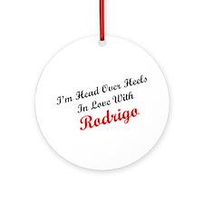 In Love with Rodrigo Ornament (Round)