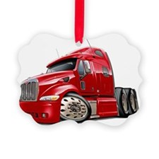 Peterbilt 587 Red Truck Ornament