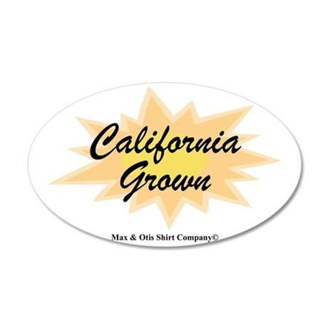 2-california-grown 35x21 Oval Wall Decal