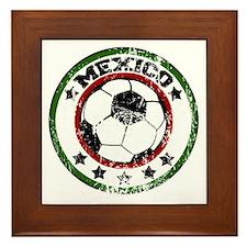 socceramexicoroundd Framed Tile