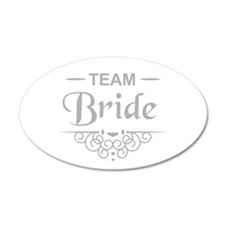 Team Bride in silver Wall Sticker