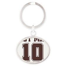 best man10 ornament Oval Keychain