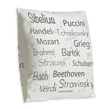Composers Burlap Throw Pillow