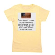 Reagan Quote on Freedom Girl's Tee