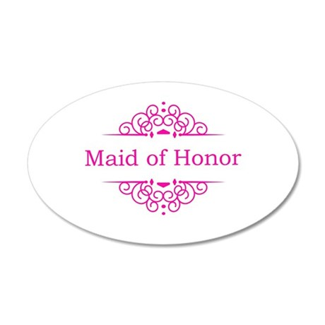 Maid of Honor in hot pink Wall Sticker