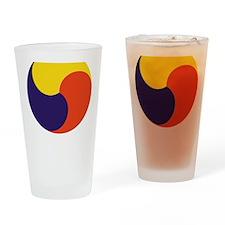 soccerKorea2Bk Drinking Glass