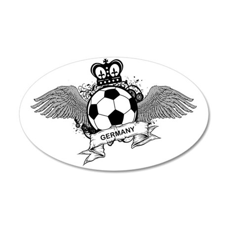 Germany Football8 35x21 Oval Wall Decal