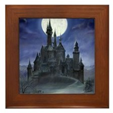 gothic castle reworked Framed Tile